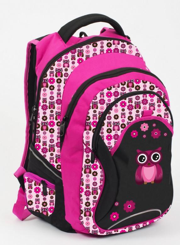 Anatomický batoh OXY FASHION Pink Owl