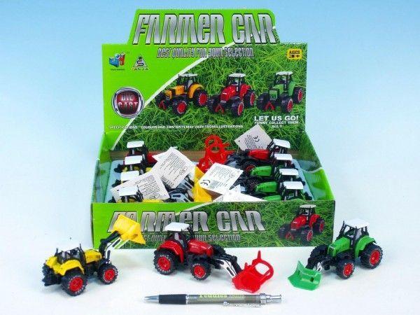 Traktor kov 11cm na zpětné natažení nezobra