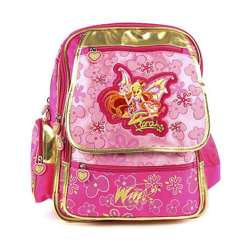 Školní batoh Winx Club - Víla Flora s křídly