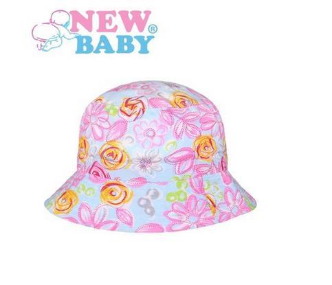 Letní dětský klobouček New Baby Kytička modrý  9ada64904f