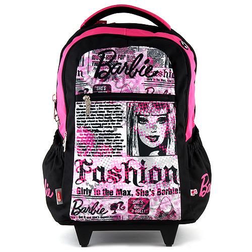 Školní batoh trolley Barbie - Newspaper s výstupem na sluchátka I. nezobra