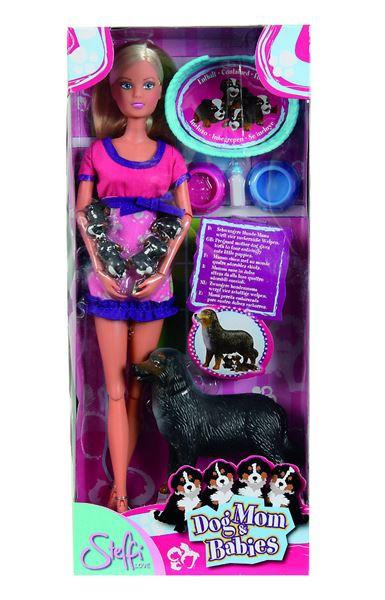 Panenka Steffi s pejskem a štěňátky