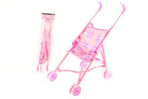 Kočárek - Golfky růžové kovové