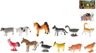 Zvířátka farma veselá plast 5cm- 12ks v sáčku