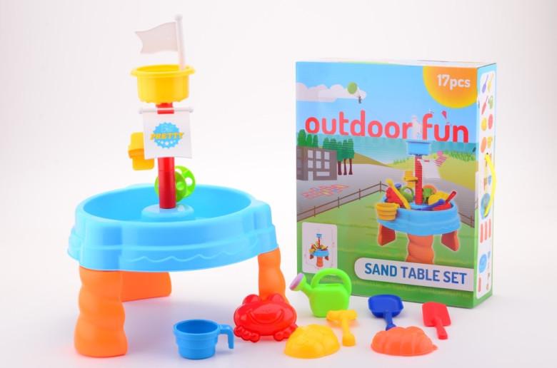 Vodní venkovní stolek s příslušenstvím