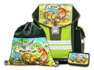 Školní aktovkový set ERGO ONE Dinopark 3-dílný Emipo