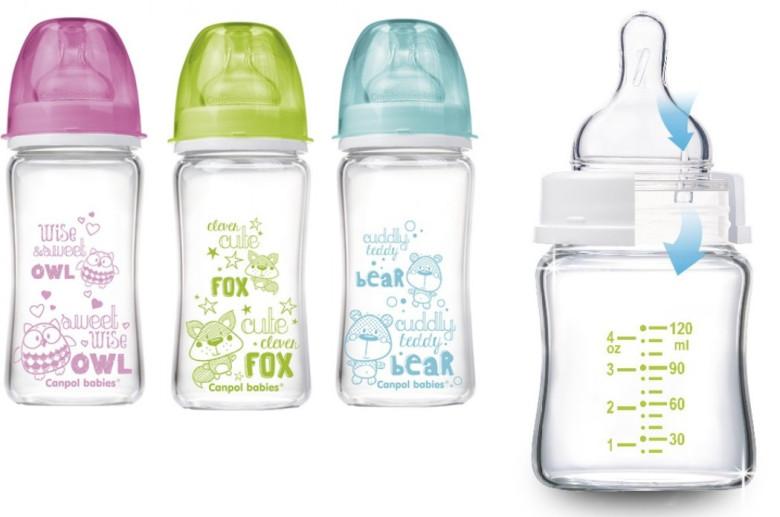 Canpol Skleněná láhev EasyStart PURE glass 240 ml
