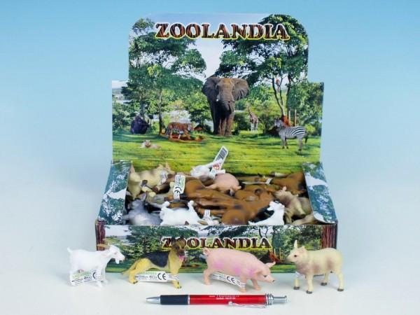 Zvířátka farma plast 5-10,5cm