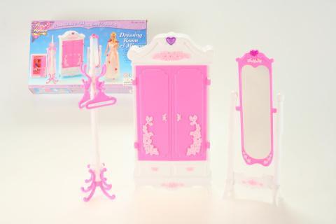 Glorie Šatní skříň a zrcadlo pro panenky