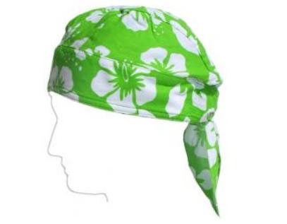 Baby Banz Šátek na hlavu s UV zelený květ