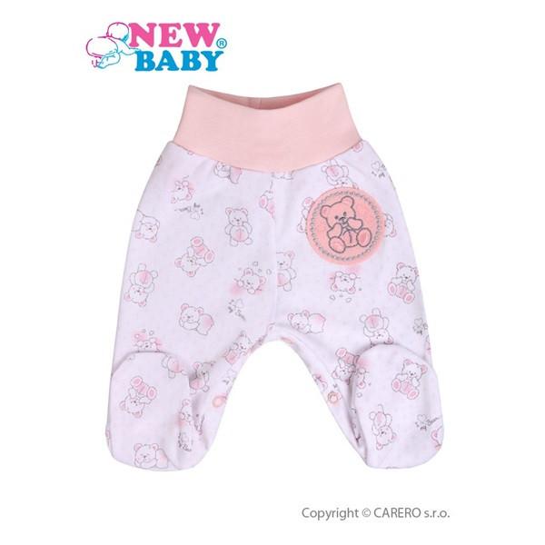 Kojenecké polodupačky New Baby Roztomilý medvídek RŮŽOVÉ vel.68