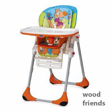 Chicco Jídelní židle Polly 2v1- Woodfriend oranžová Rok 2016