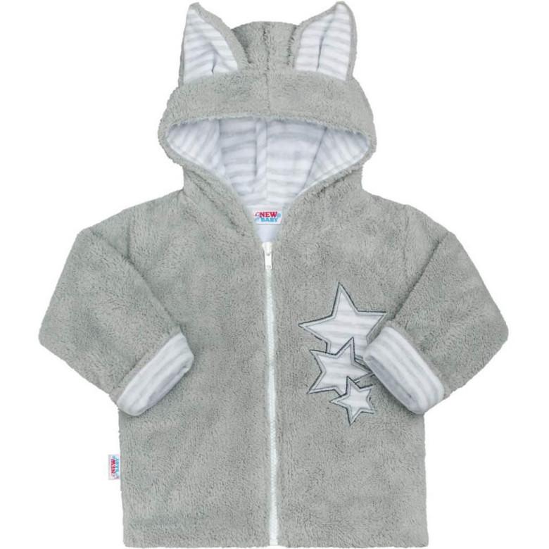 Zimní dětská mikina New Baby Ušáček ŠEDÁ  4d5d0dc495
