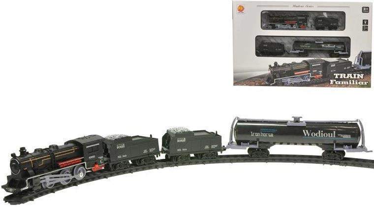 Vlak 15cm + 3 vagóny na baterie s dráhou se světlem a zvukem