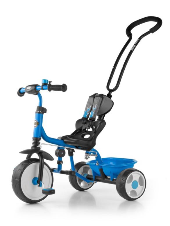 Dětská tříkolka se zvonkem Milly Mally Boby New modrá
