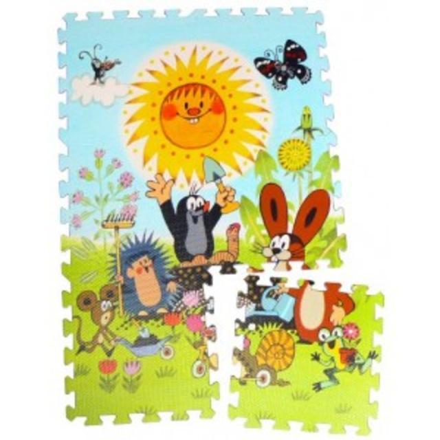 Pěnové puzzle, Krtek 30x30 6 dílků