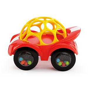 Hračka autíčko Oball Rattle & Roll červené