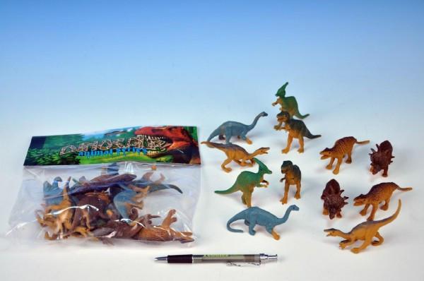 Dinosaurus plast 9-10cm 12ks v sáčku