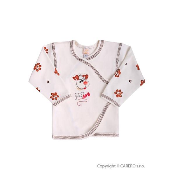 Kojenecká košilka Koala Rexík  BÉŽOVÁ vel. 68
