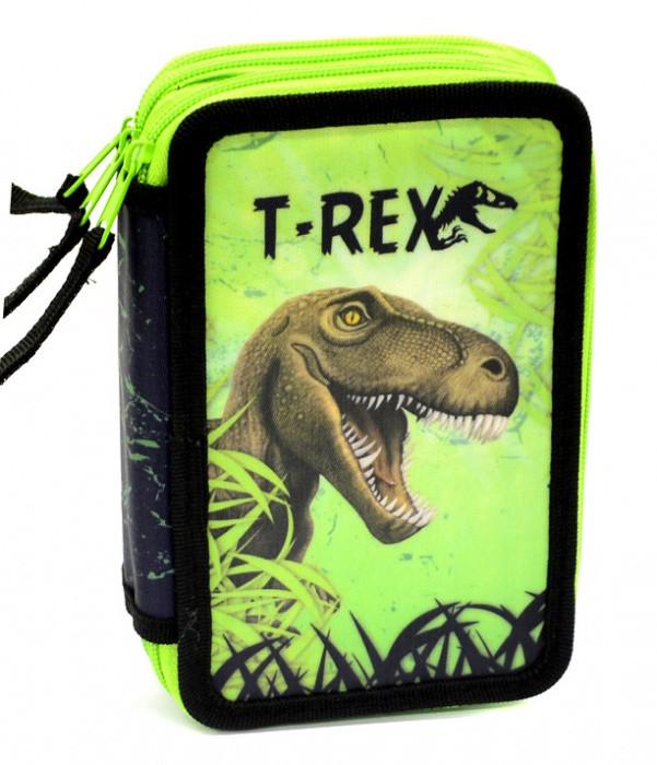 Školní penál 3patrový prázdný T-rex  e03c3cee31