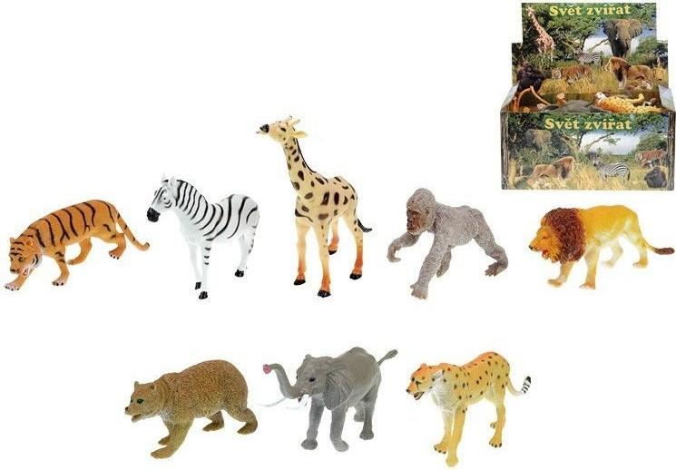 Zvířátka safari/ZOO plast 13-20cm