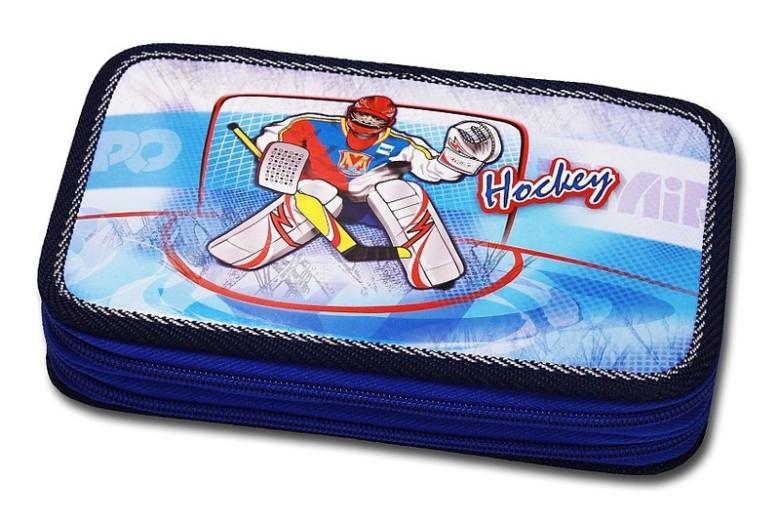 Školní pouzdro 2-patra prázdné Hockey Emipo