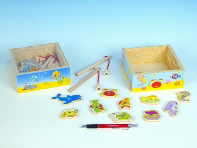 Hra akvárium v dřevěné krabičce