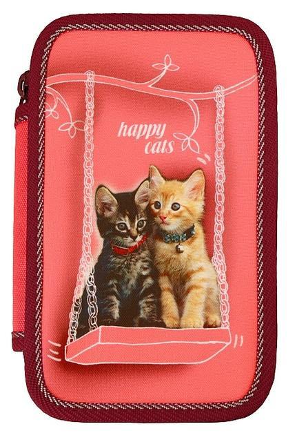 Školní penál 3-patra Happy cats prázdné Emipo
