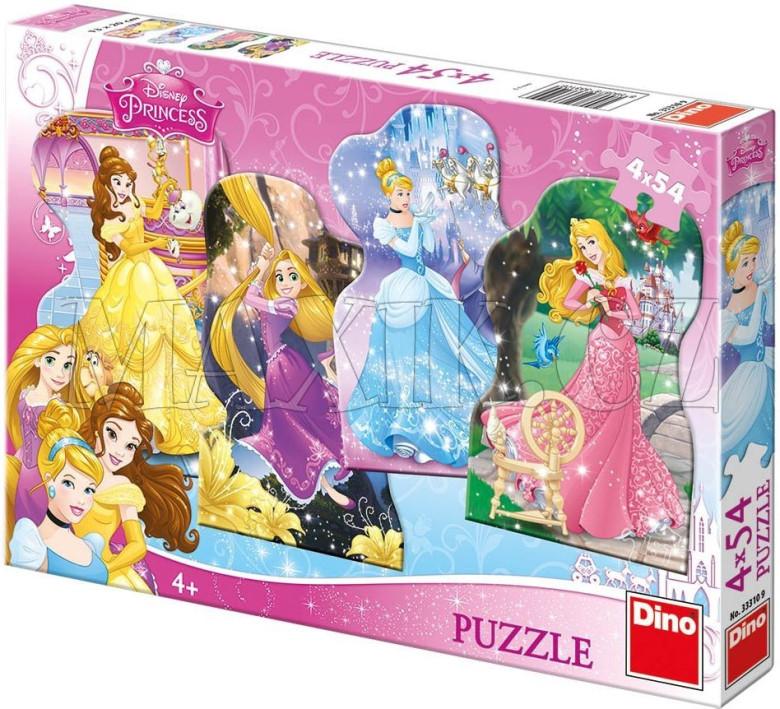 Puzzle Hravé princezny 13x20cm v krabici 33x23x3,5cm
