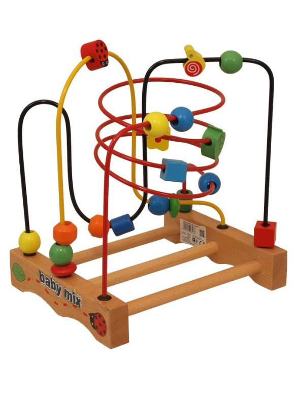 Dřevěná edukační hračka Baby Mix Labyrint