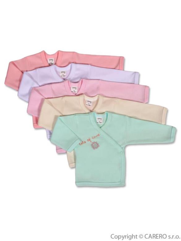 Kojenecká košilka Amma Flower vel. 62 růžová