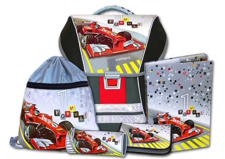 Školní batohový set Formule racing 5-dílný Emipo
