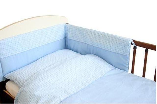 Souprava 3 dílná do postýlky Duo modrá 100 x 135 cm