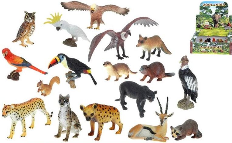Zvířátka safari/ZOO menší 5,5-15cm, 1 ks