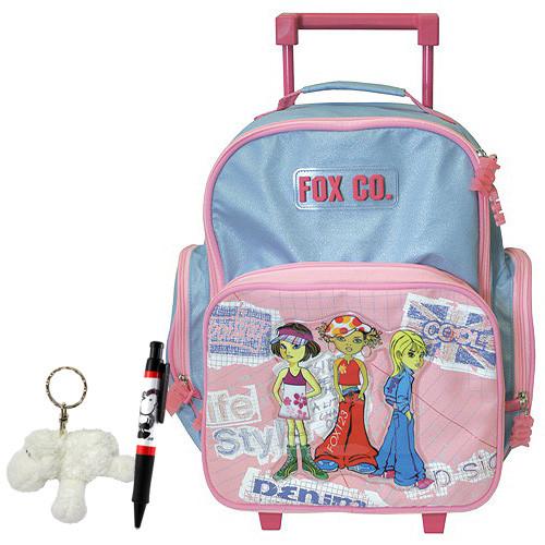Školní batoh Cool trolley set - 3-dílná sada - modrorůžový  9214e5d9d0