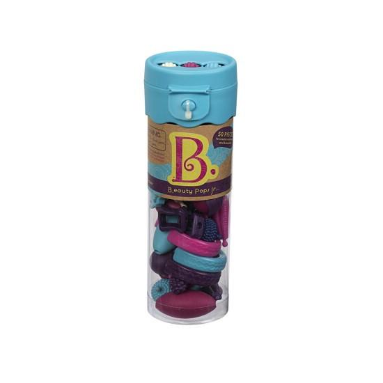B.toys Spojovací korále a tvary Beauty Pops 50 ks fialové/tyrkysové