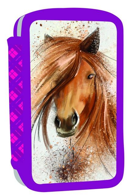 Dvoupatrový penál neplněný Kůň