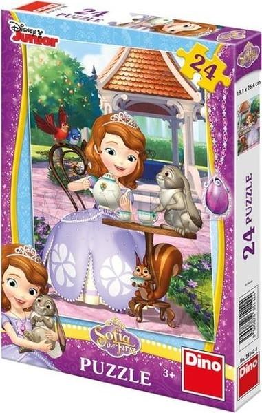 Puzzle  Sofia a zvířátka 18,1x26,4cm 24 dílků