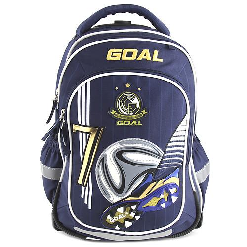Školní batoh trolley Goal - 3D kopačka s fotbalovým míčem - číslo 7