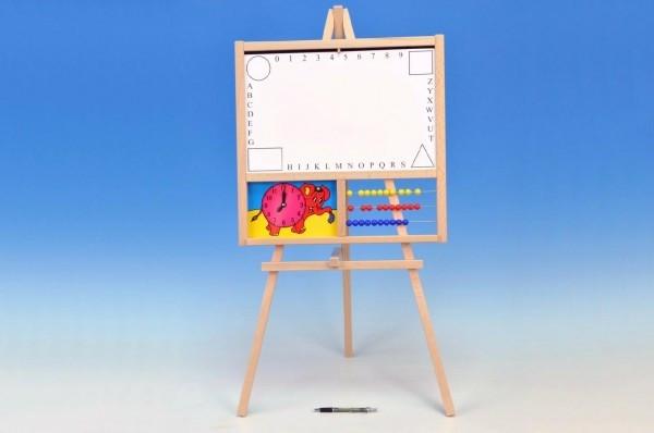 Tabule školní magnetická i pro psaní na fólii s počítadlem a hodinami
