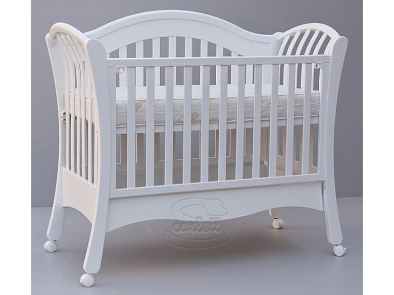 Scarlett Dětská postýlka - Valencie - buk - bílá - 120 x 60 cm
