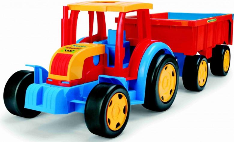 WADER GIGANT traktor s vlekem