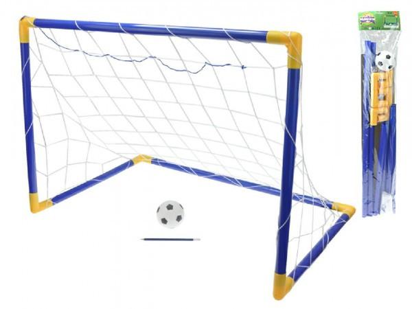 Branka fotbalová 90x60x52cm s míčkem