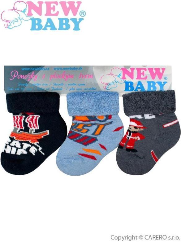 Kojenecké froté ponožky New Baby barevné - 3ks Vel. 74 (9 - 10 cm ... 7afc4f1f00