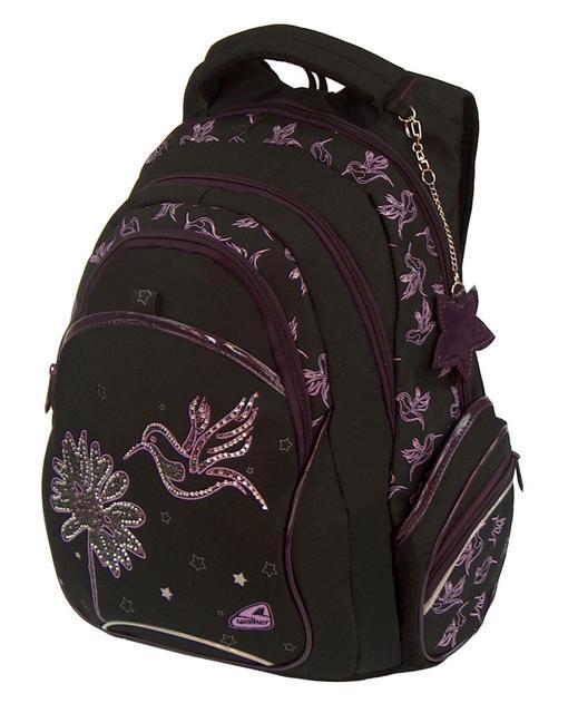 Školní batoh Fun Kolibřík černá Walker