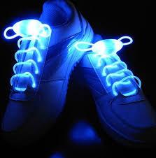 Svítící a blikající tkaničky do bot MODRÉ