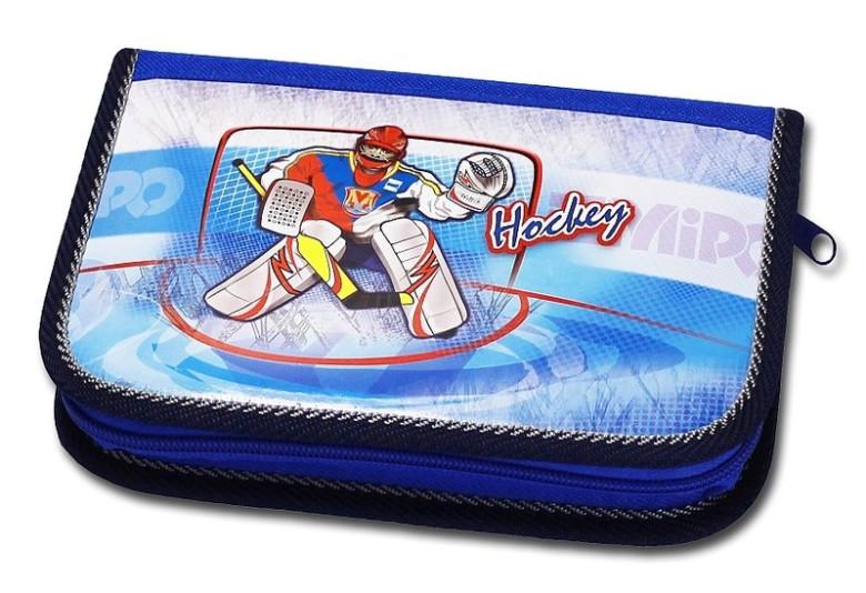 Školní pouzdro 2-klopy plněné Hockey Emipo