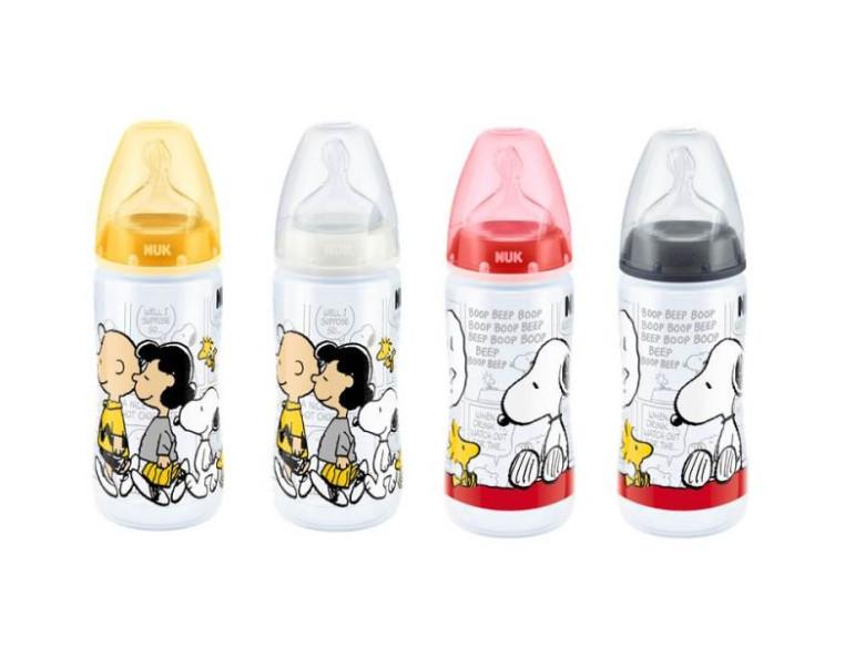 Snoopy láhev First Choice 300ml silikon (6-18 měsíců)