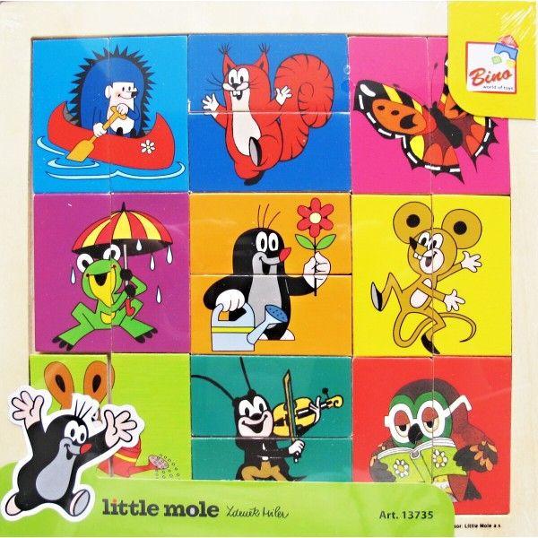 Puzzle hlavičky - Krtek, 18 dílů nezobra