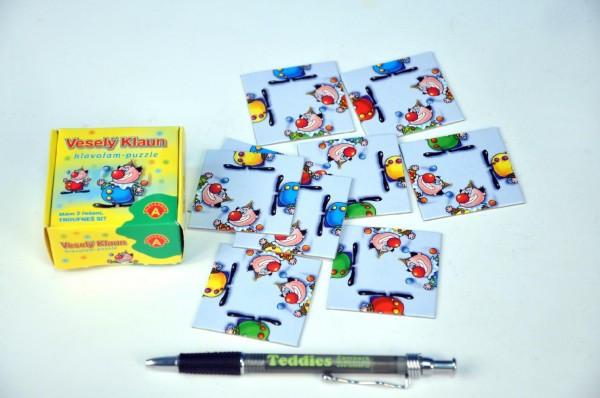 Hlavolam Puzzle Veselý klaun 9 kartiček v krabičce
